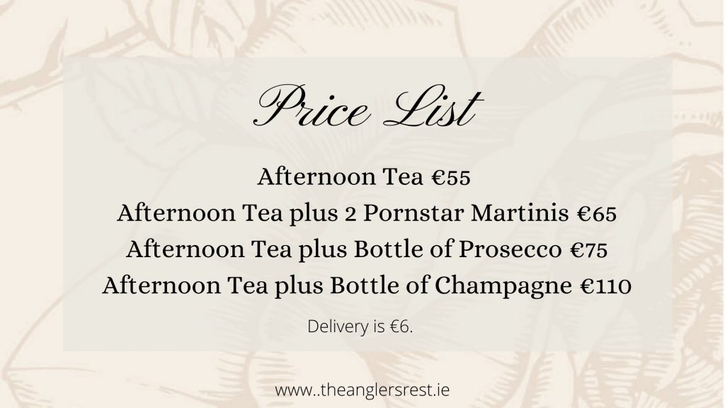 Afternoon Tea Price List